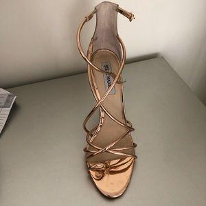 Rose gold Steve Madden heels size 10